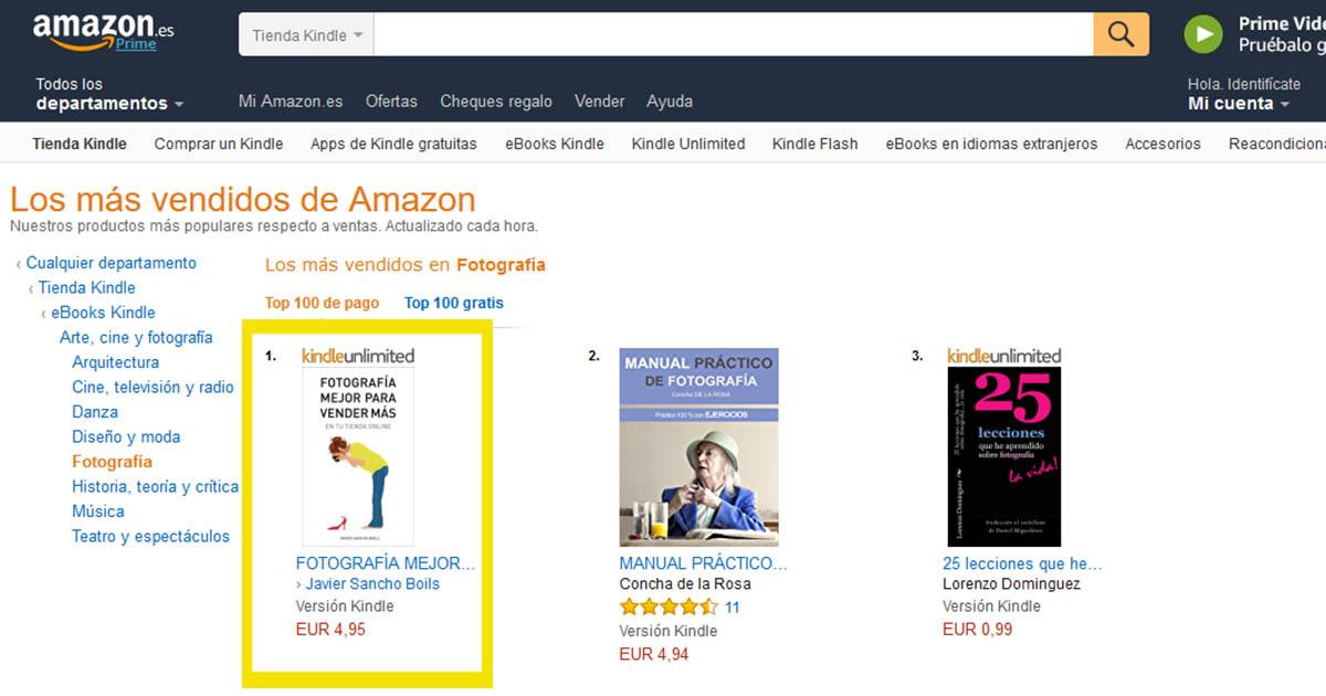Fotografía mejor para vender mas en tu tienda online eBook más vendido en Amazon